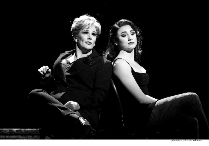 CHICAGO. Sam Bailey as 'Mama Morton' and Sophie Carmen-Jones as 'Velma Kelly. Photo by Catherine Ashmore
