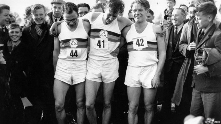 Roger Bannister runs 4 minute mile
