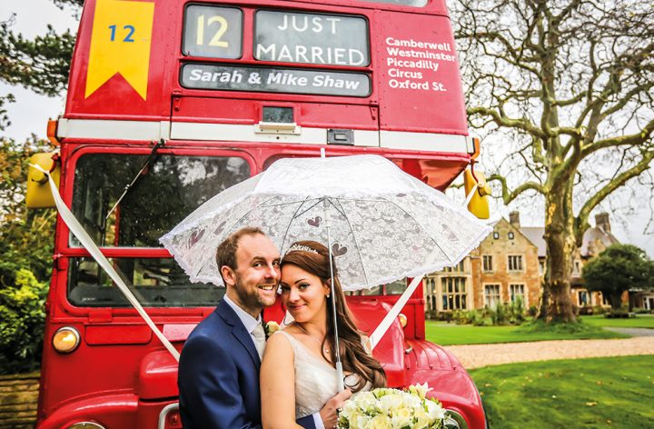 Red Bus wedding at Highgate House Hotel Creaton