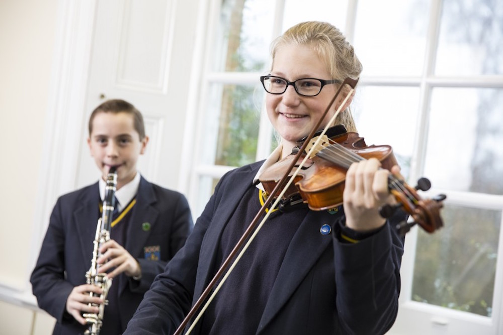 Violin playing at Pitsford School