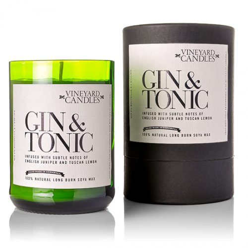 Gin and tonic candles