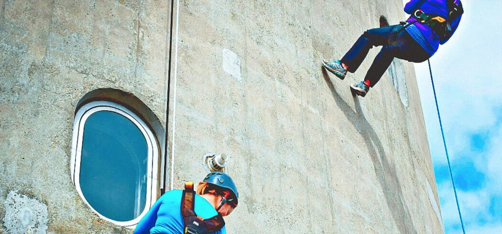 Abseil the lift tower